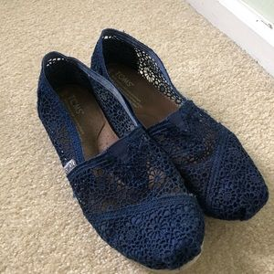 Toms Navy Blue Lace Shoe